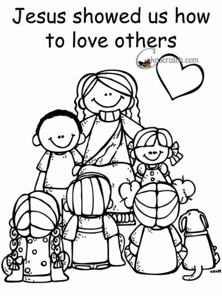 768x1024 Love One Another Coloring Pages Com Incredible Page Olegratiy