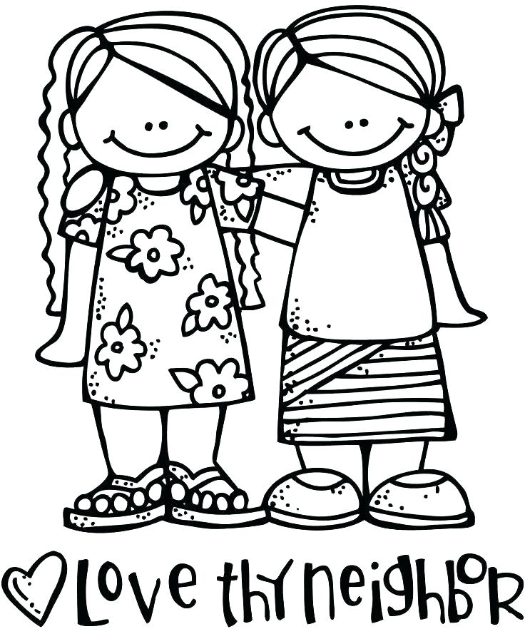 736x882 Love Your Neighbor Coloring Page Elegant Love One Another Coloring