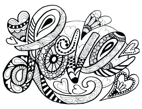 570x440 Mandala Coloring Pages Online Love One Another Coloring Page Fresh