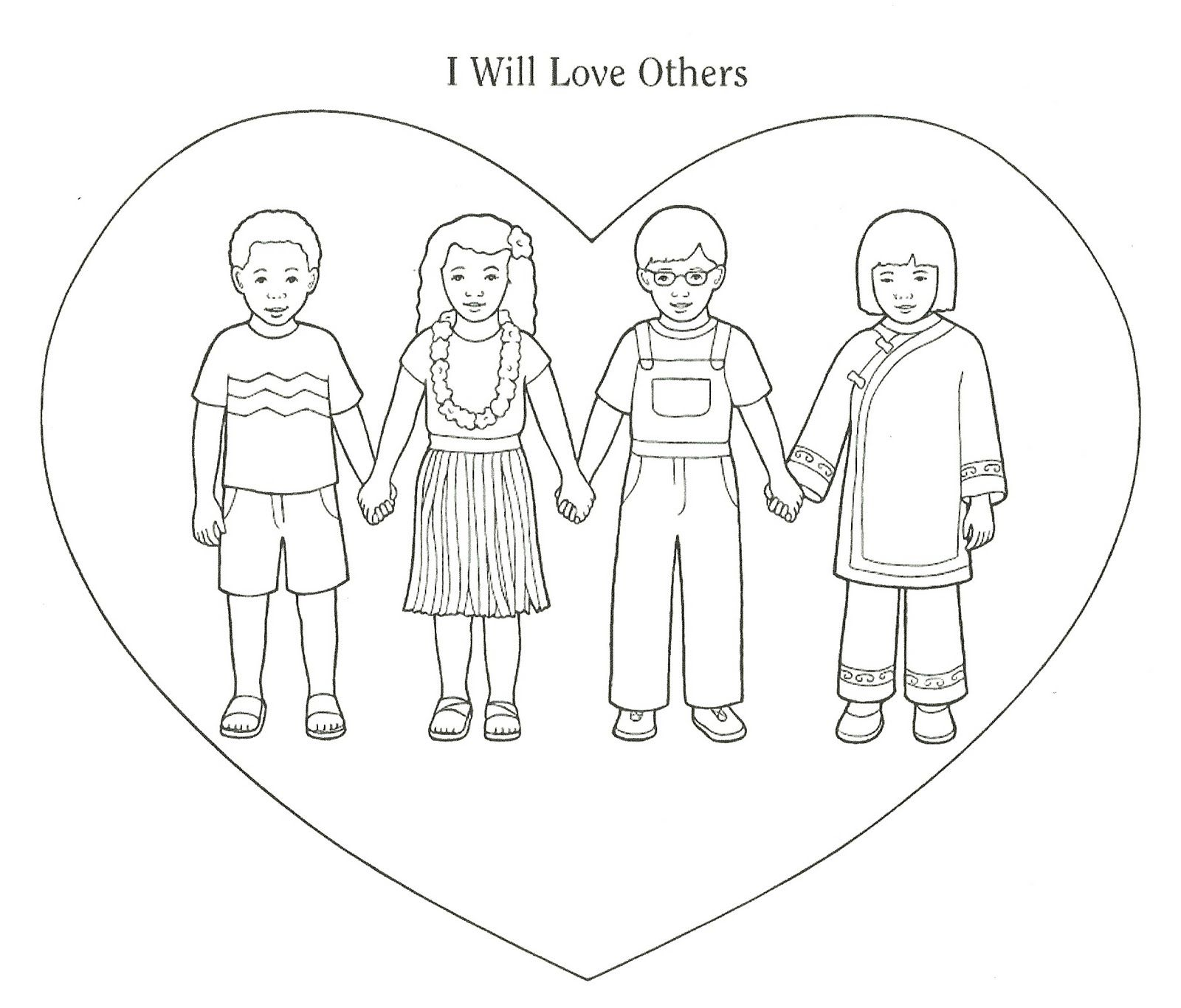 1600x1366 Love Your Neighbor As Yourself Coloring Pages Matthew