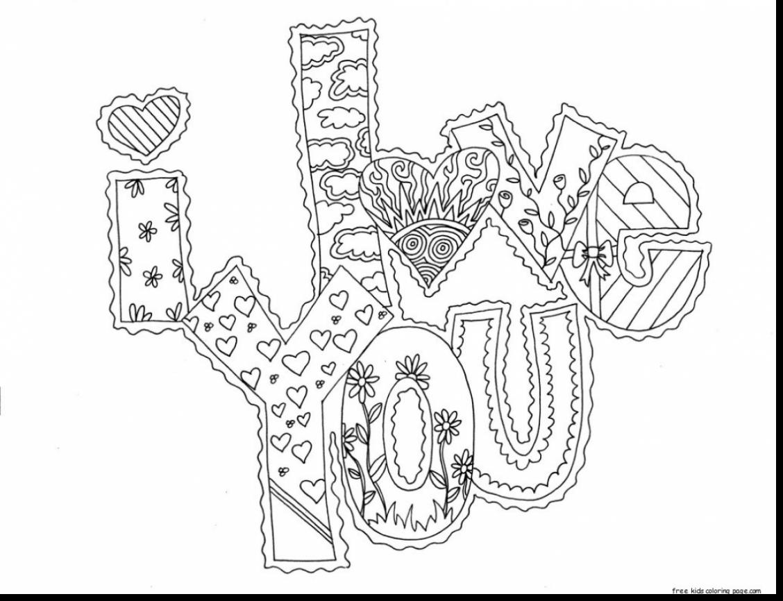 1128x866 Love Quotes Coloring Pages For Teenagers