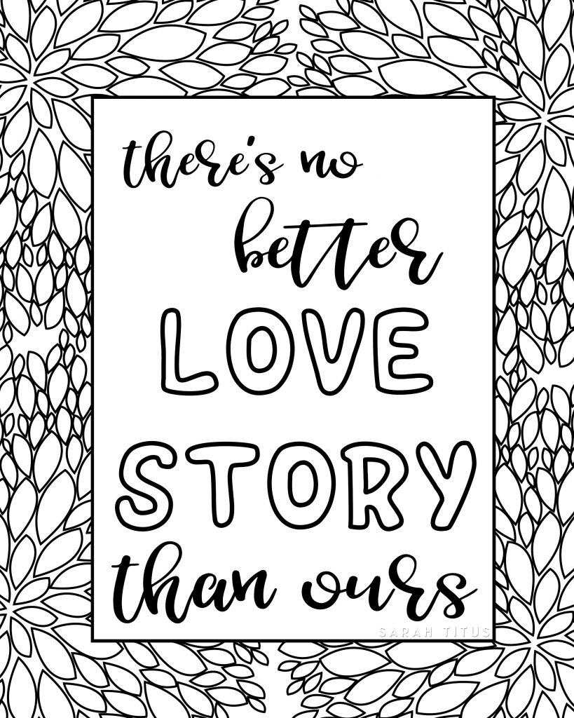 819x1024 Free Printable Love Quotes Coloring Sheets
