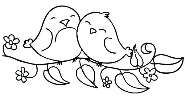 600x360 Springtime Coloring Pages Coloring Pages Bird Love Bird Coloring