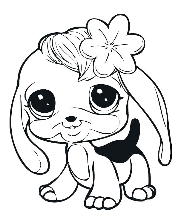 606x746 Lps Coloring Pages Dog Cuties