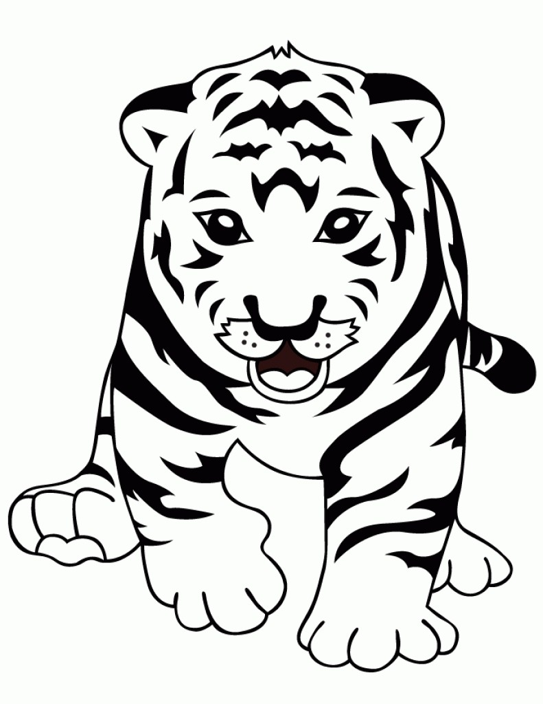 791x1024 Lsu Tigers Coloring Pages Copy Curious Baby Tiger Page