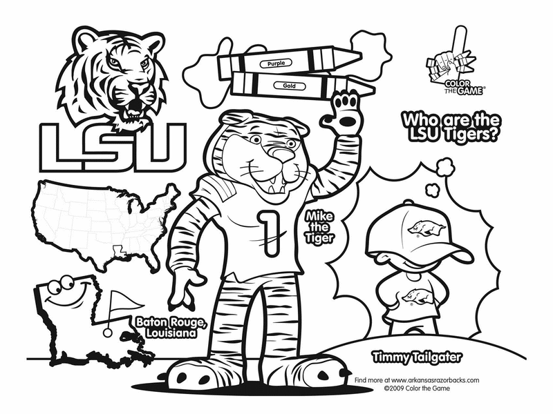 800x600 Lsu Tigers College Football Coloring Pages I Love This