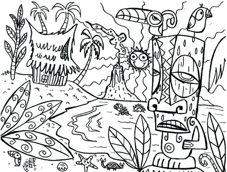 755x575 Luau Coloring Pages Hawaiian Luau Coloring Pages Luau Coloring