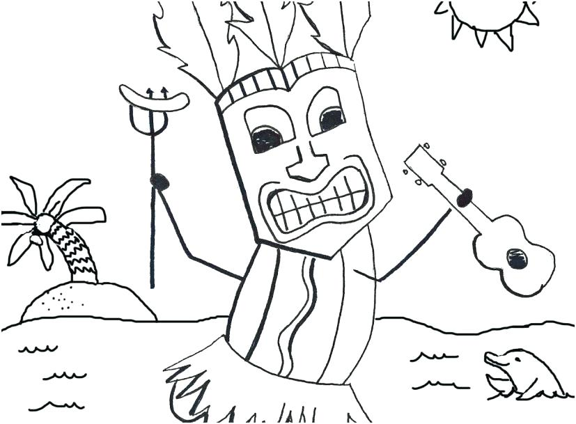 827x609 Luau Coloring Pages Lei Necklace Coloring Page Coloring Pages