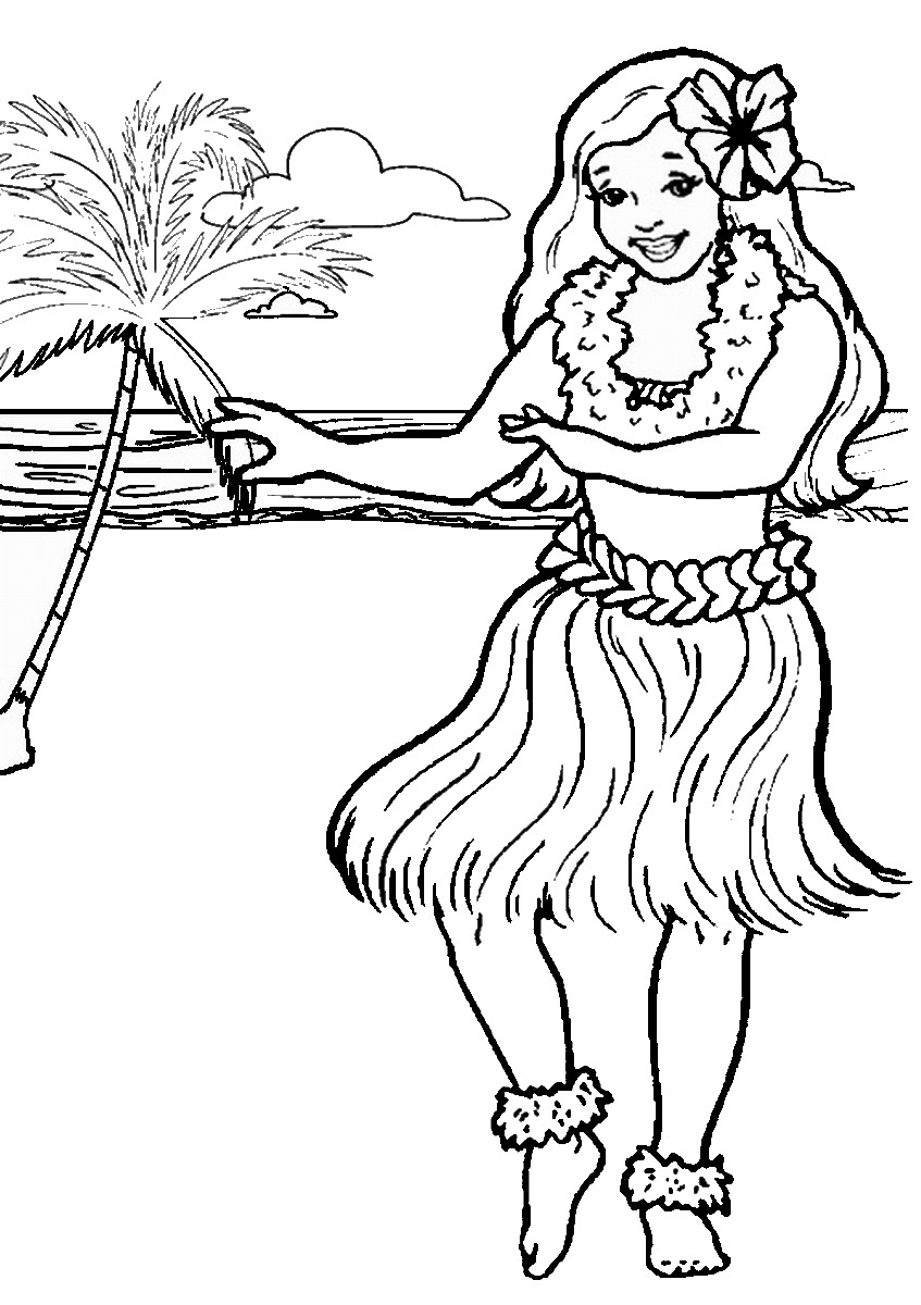 847x1200 Luau Coloring Pages