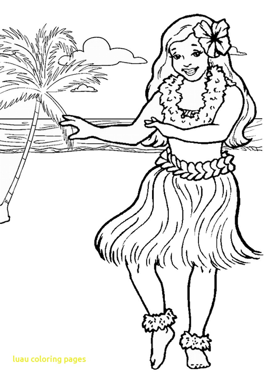 847x1200 Perfect Luau Coloring Pages With Printable Wkw