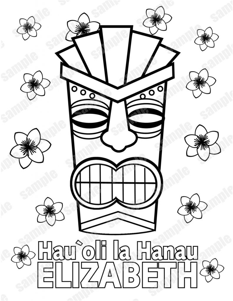791x1024 Tiki Coloring Pages Wallpapers Lobaedesign Luau General Pictures