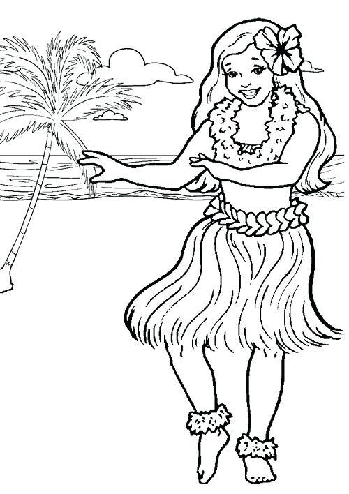 500x708 Hawaii Flag Colouring Page Hawaiian Luau Coloring Pages Image