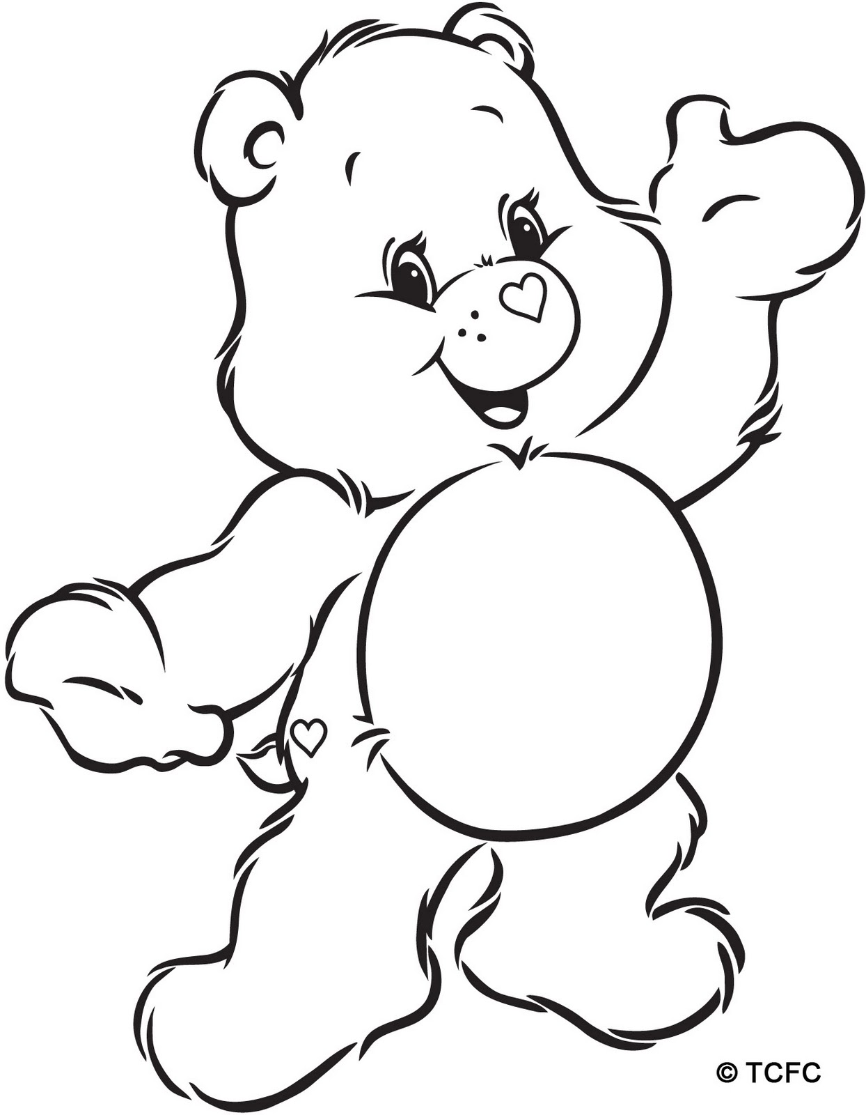 Lucky Care Bear Coloring Pages