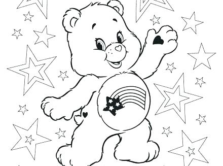 440x327 Care Bears Coloring Page Good Luck Coloring Pages Full Size