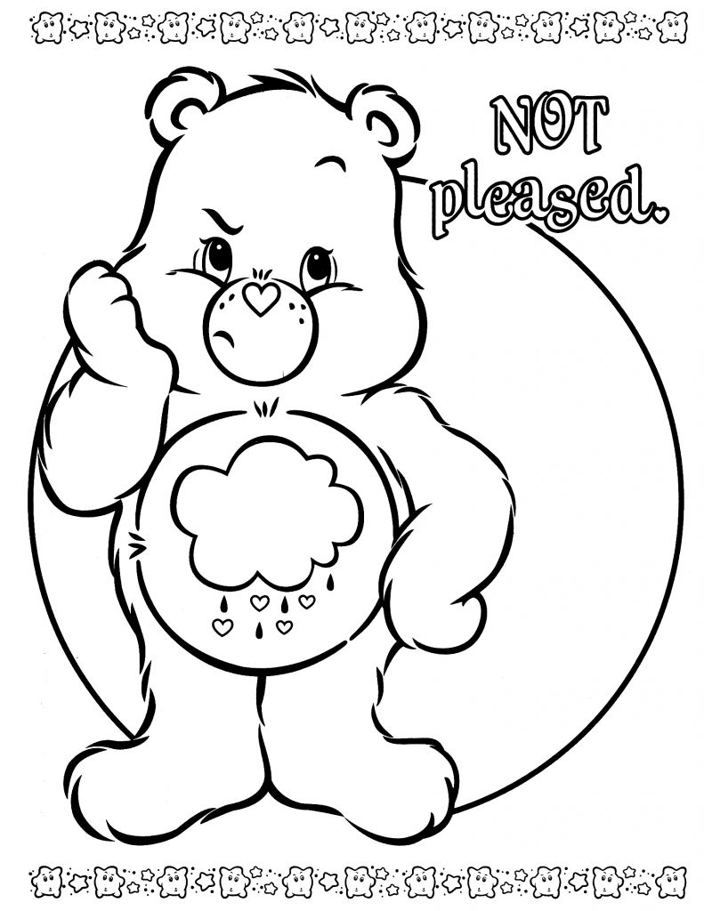 791x1024 Cool Care Bears Coloring Pages Free Coloring Pages Download