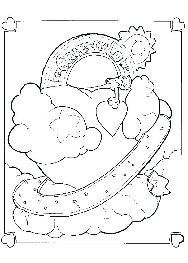 607x850 Good Luck Coloring Pages Care Bears Coloring Page Care Bears