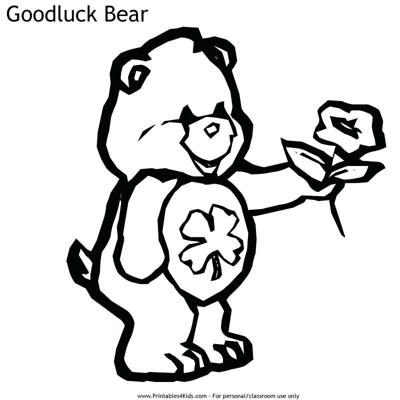 800x800 Good Luck Coloring Pages Care Bears Good Luck Bear Coloring Page