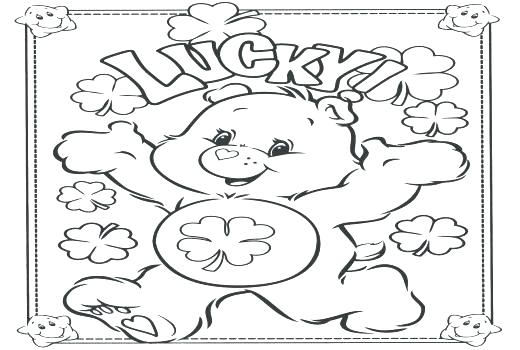520x350 Good Luck Coloring Pages Good Luck Coloring Pages Care Bears