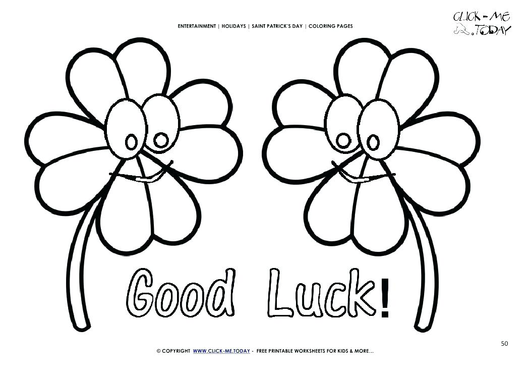 1053x745 Good Luck Coloring Pages Good Luck Coloring Pages St Day Coloring