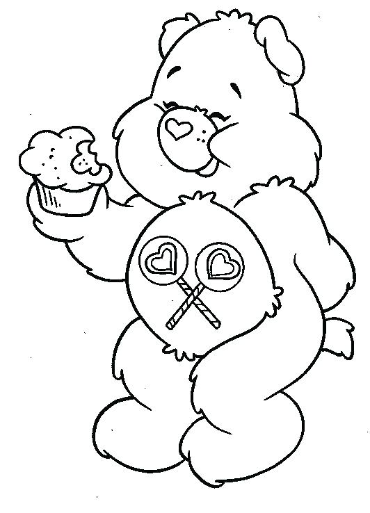 532x738 Good Luck Coloring Pages Ing Ing Ing Lucky Care Bear Coloring