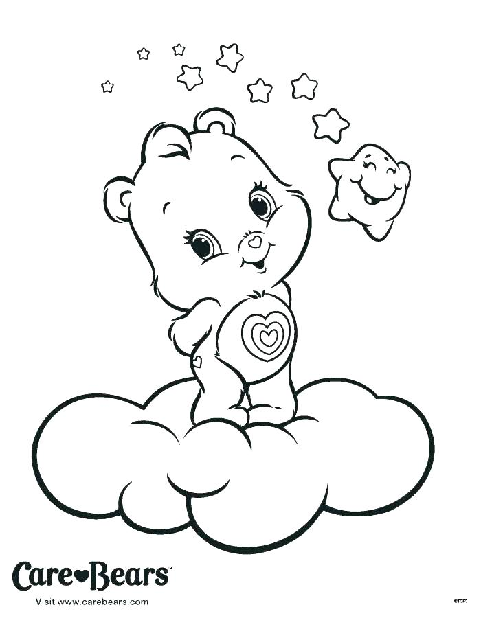 700x900 Lucky Care Bear Coloring Pages Bears Sleeping And Books As Well