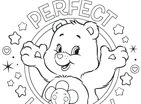450x334 Printable Care Bears Coloring Pages For Kids Lucky Care Bear