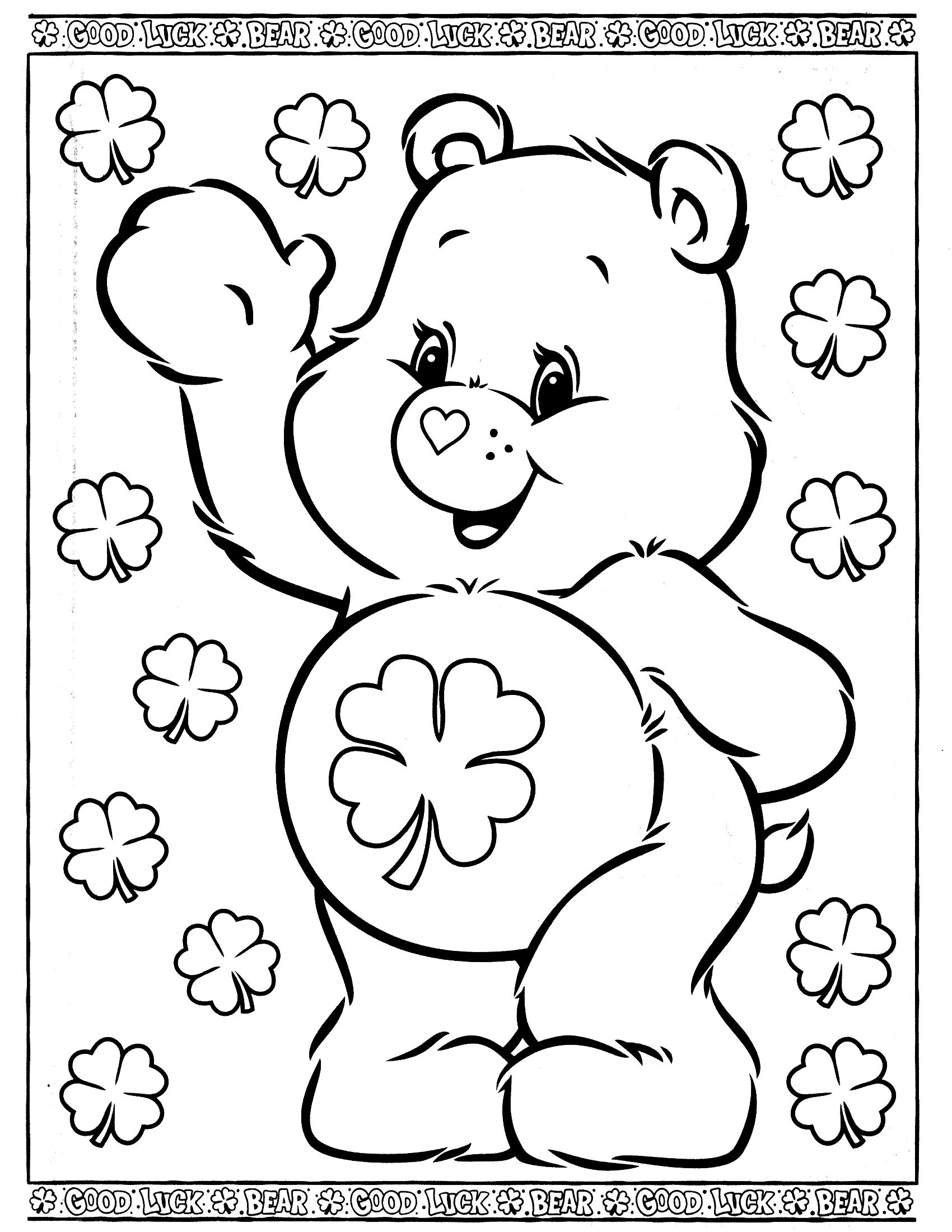 1700x2200 Care Bears Coloring Pages Care Bears Coloring Page Design