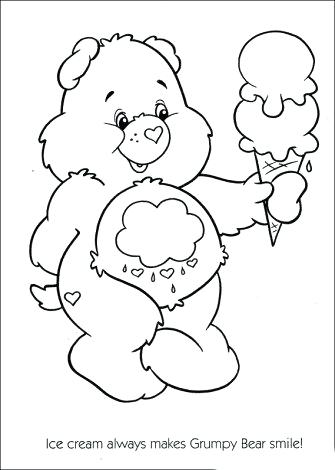 335x470 Care Bears Coloring Sheets Free