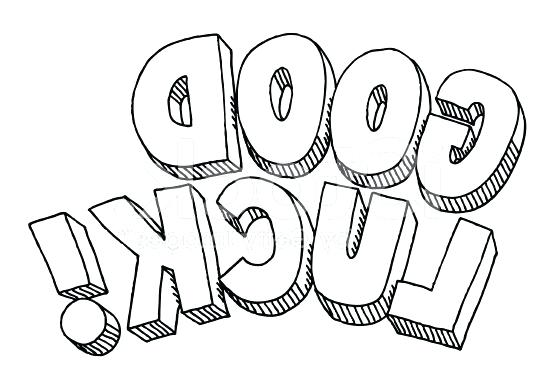 556x389 Good Luck Coloring Pages