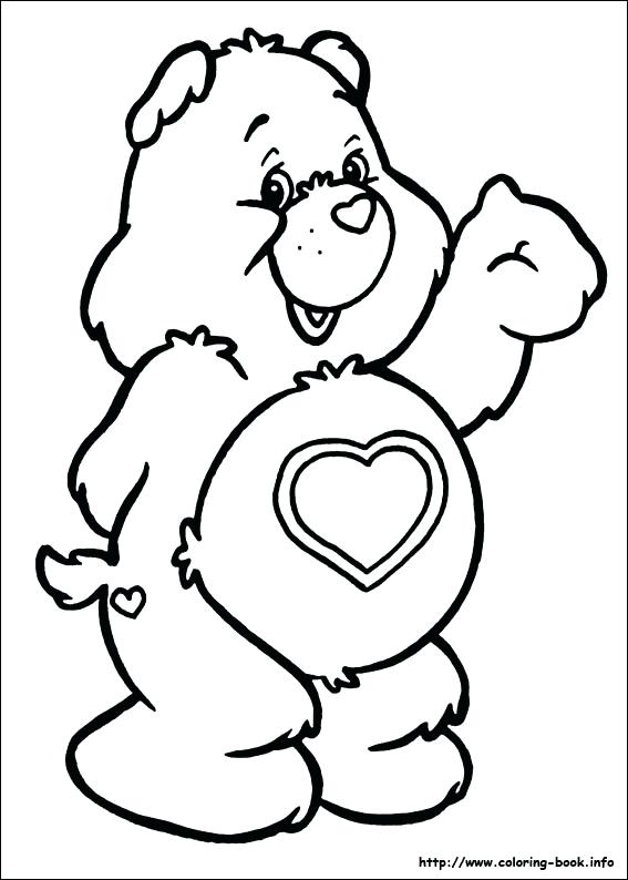 567x794 Care Bear Coloring Page Care Bears Activity Bear Colouring Sheet