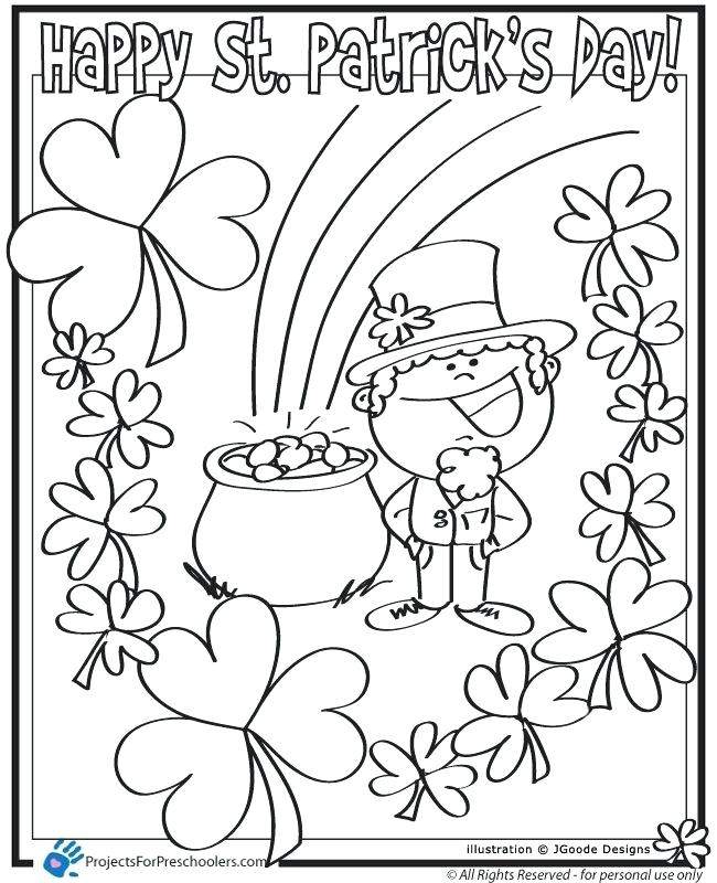 650x800 Saint Patricks Day Coloring Pages St Day Leprechaun Lucky Clover