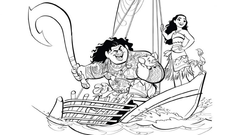 780x440 You'll Love These Printable Moana Coloring Pages
