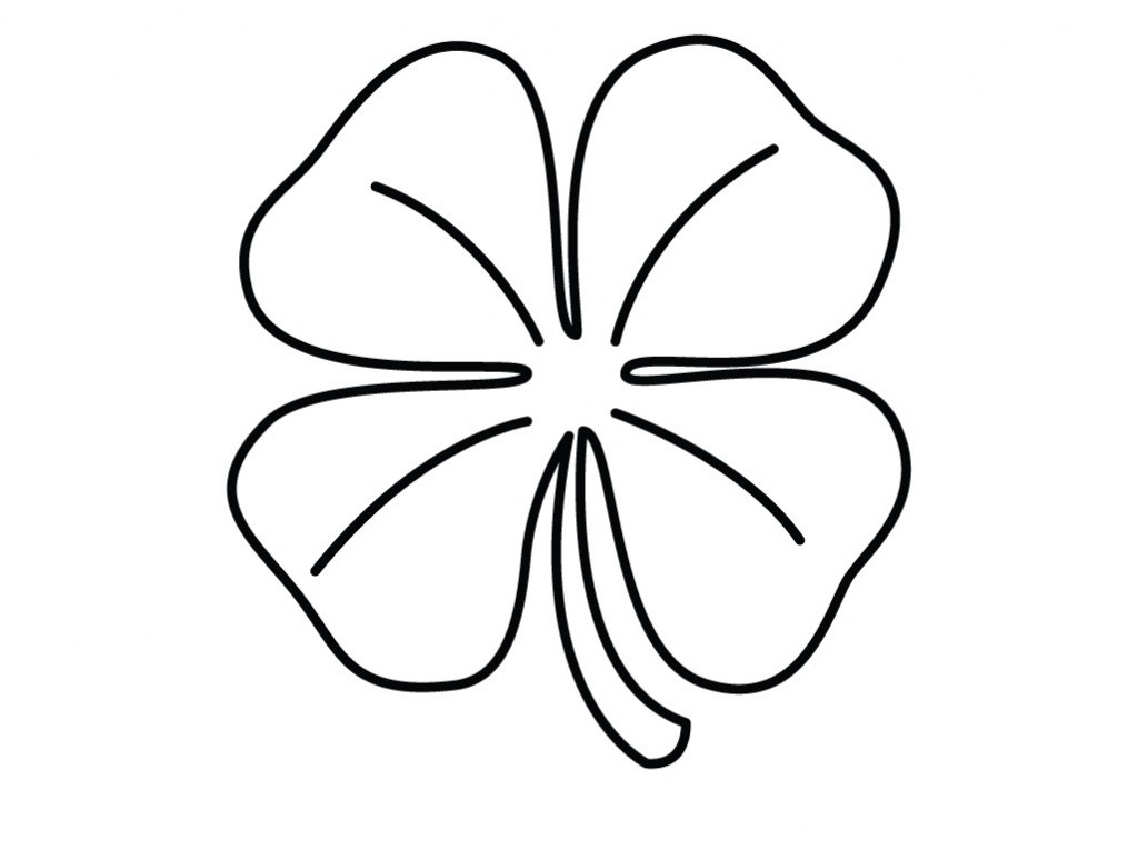 1024x765 Four Leaf Clover Coloring Pages