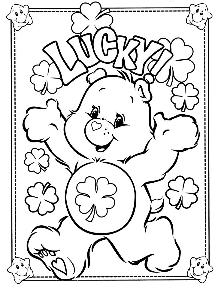 736x952 Lucky Bear Free Coloring Page Animals, Love Coloring Pages