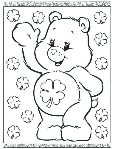 386x500 Lucky Care Bear Coloring Pages Kids Coloring Coloring Pages Care