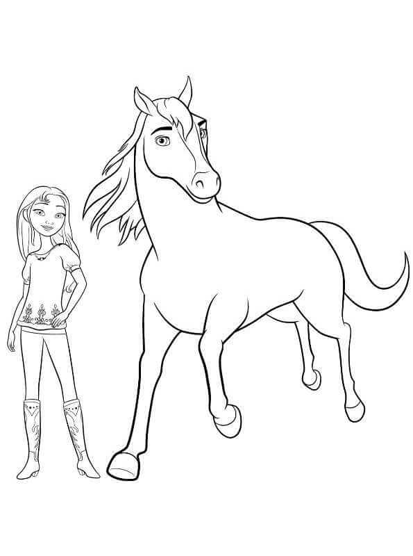 595x800 Printable Spirit Riding Free Coloring Pages
