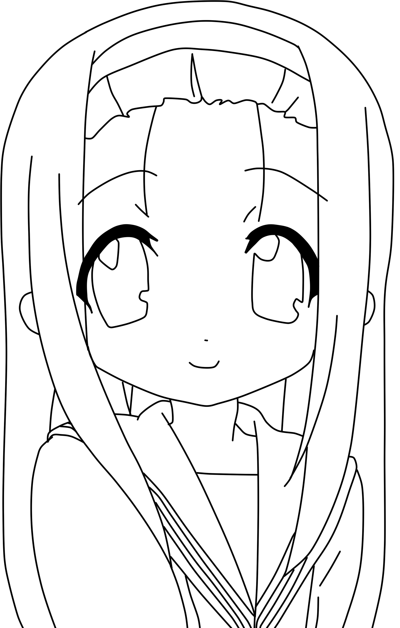 1396x2192 Lucky Star Coloring Pages Drawing Manga Lucky Star