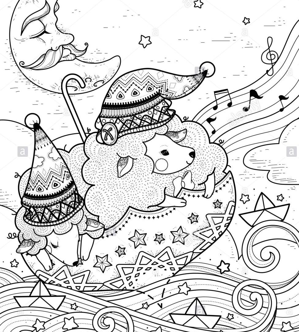975x1080 Terrific Van Gogh Starry Night Coloring Page Free Printable Pages