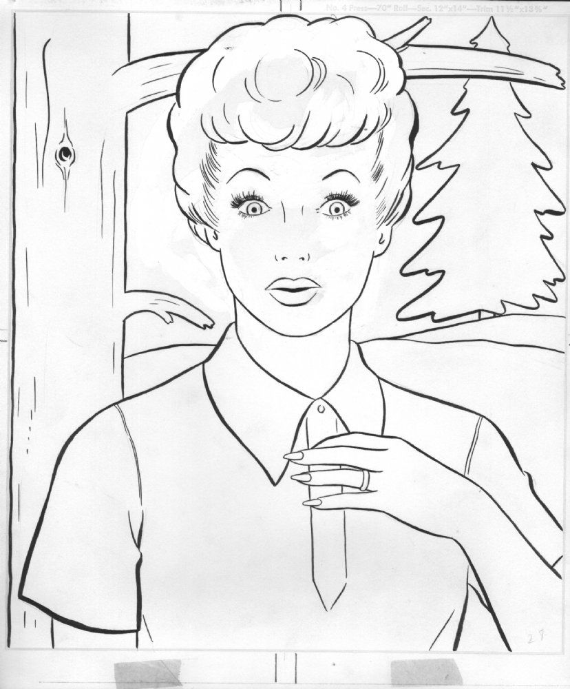 Lucy Coloring Pages