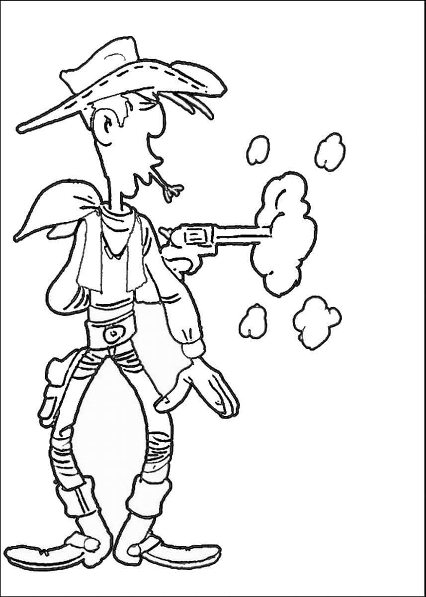 857x1200 Lucky Luke Coloring Pages