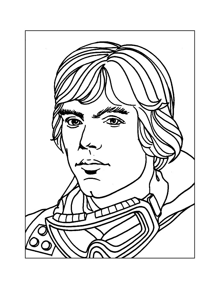 750x964 Luke Coloring Pages Collection Free Coloring Sheets