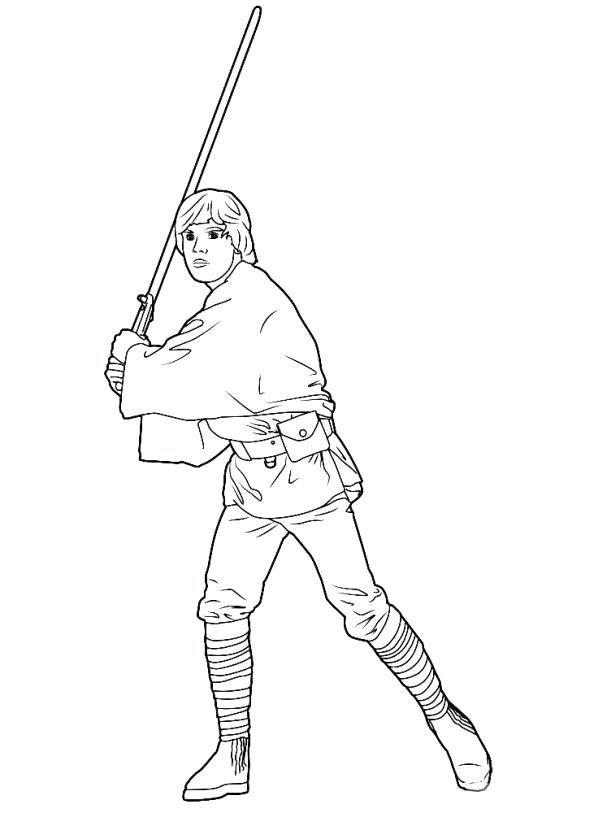594x813 Luke Skywalker Coloring Pages Extraordinary Luke Skywalker