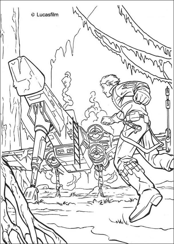 607x850 Luke Spaceship On Dagobah Coloring Pages