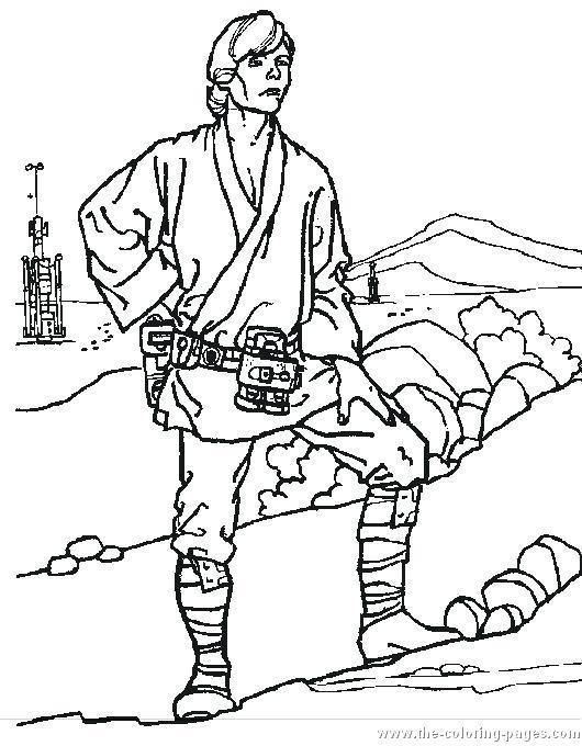 530x680 Star Wars Coloring Pages Luke Luke Skywalker Coloring Page