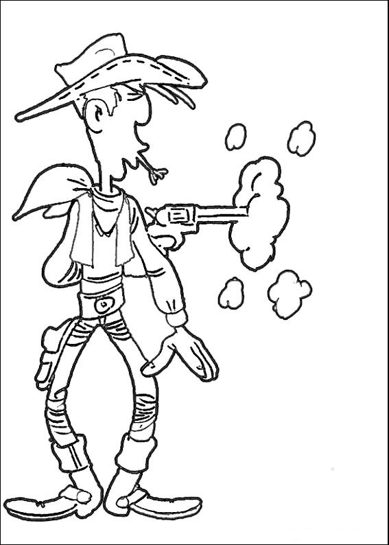567x794 Lucky Luke Coloring Page Tv Series Coloring Page