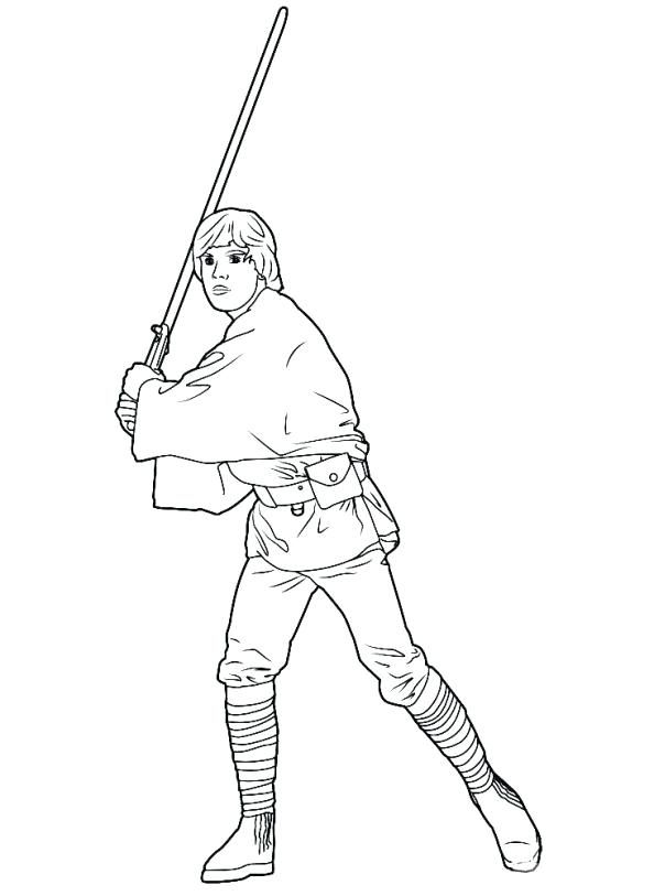 594x813 Luke Skywalker Coloring Pages Extraordinary Luke Skywalker