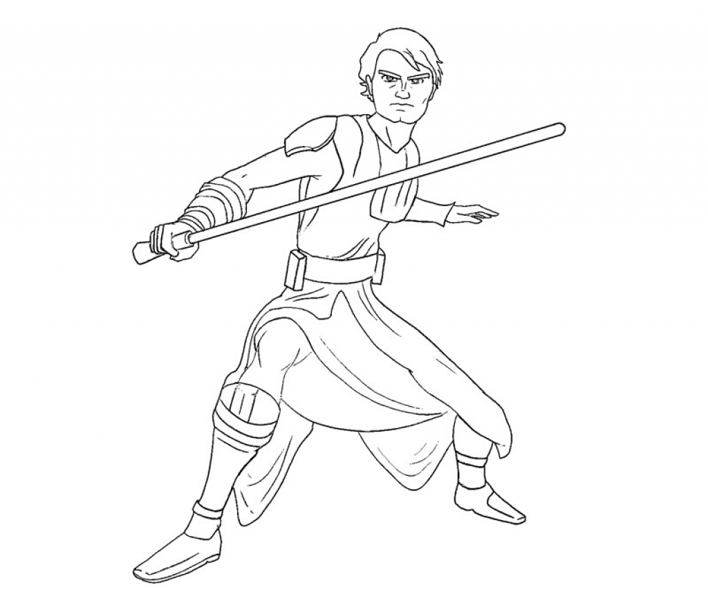 1024x853 Luke Skywalker Coloring Page