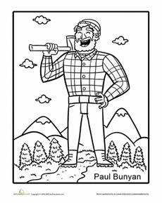 230x289 Best Paul Bunyan Images On Paul Bunyan, Tall Tales