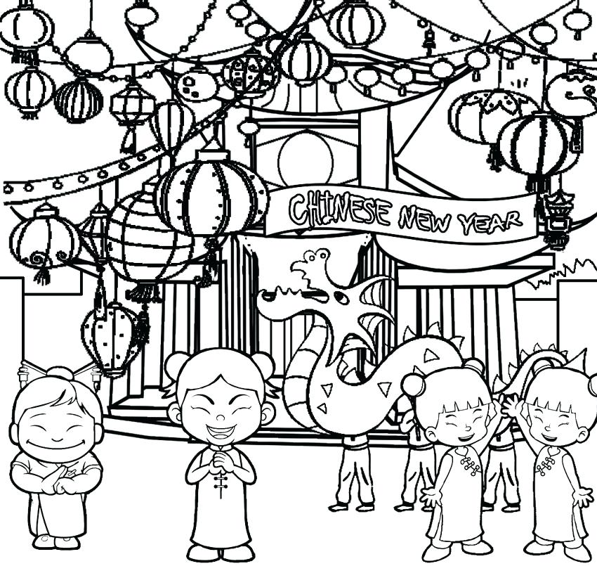 Lunar New Year Coloring Pages At Getdrawings Free Download