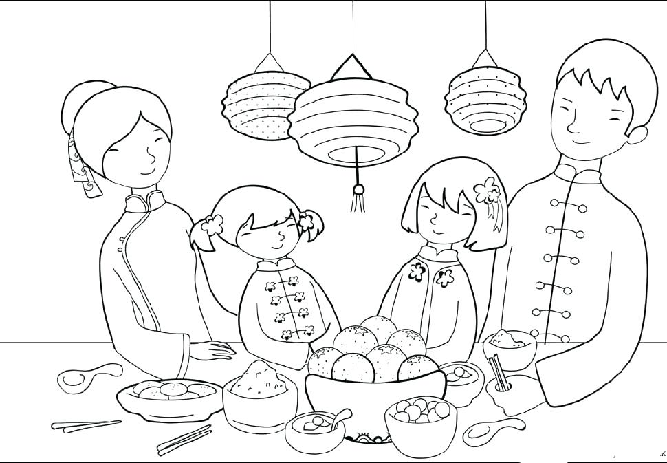 970x673 Chinese New Year Coloring Pages New Year Coloring Pages New New